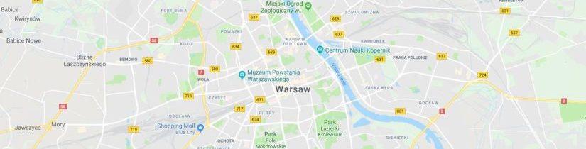 Mapa dojazdowa na stronie internetowej – lokalizacja firmy na stronie www